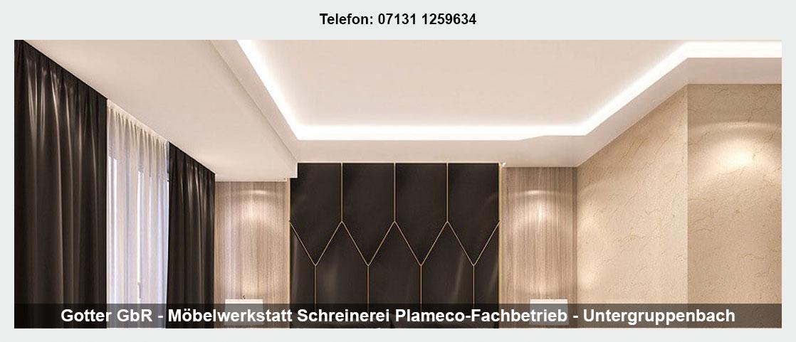 Holzdecke Untergruppenbach - Plameco: Spanndecken, Holzdecke streichen